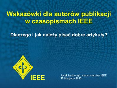 Wskazówki dla autorów publikacji w czasopismach IEEE